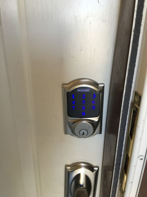 Unique code for each guest provides keyless entry at the front door to allow 24/7 access