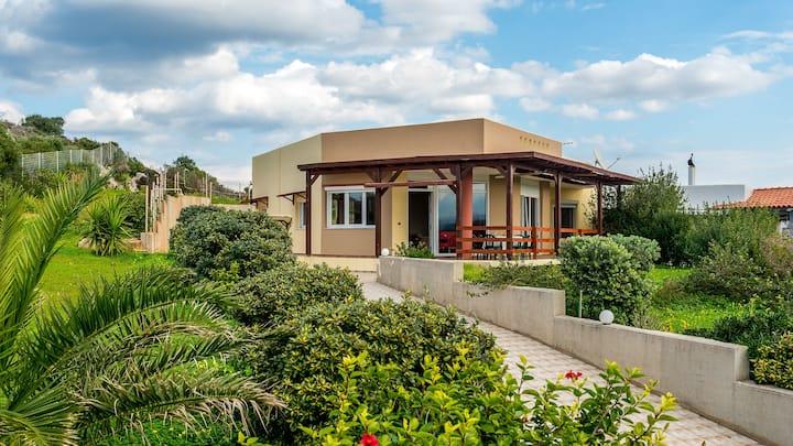 Quiet Villa in Tersanas 200 meters from the beach