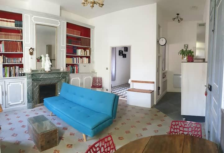 Le Manoir d'Aude -Appartement Rubis (Bibliothèque)
