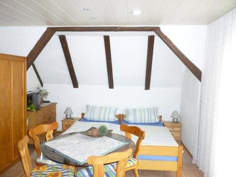 Gasthaus - Pension Am Buchberg (Mönchsdeggingen), Mehrbettzimmer mit Balkon