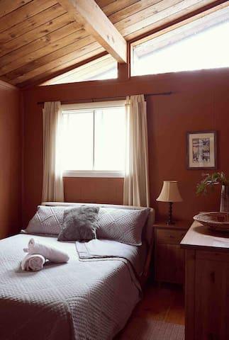 Bedroom 2 - queen size bed, dresser, and closet