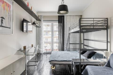 복원된 아름다운 아파트 @ 도시 중심 # 1