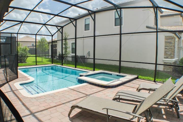 Holiday Villa w Pool & Spa Orlando Championsgate