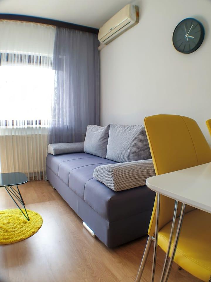 BAGI Apartments & Rooms / AP 4 Silver n' Yellow
