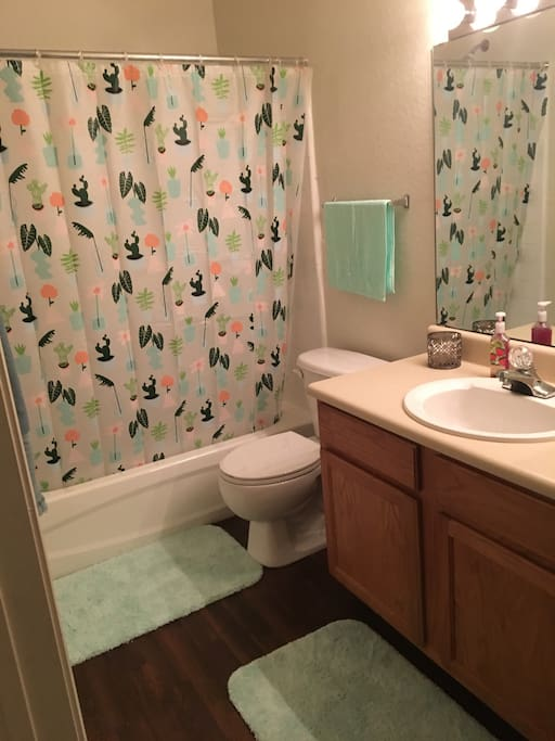 Private bathroom across the hall from your bedroom
