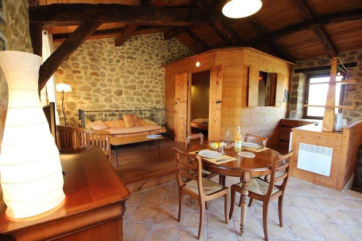Charmante maisonnette en pierre en Ardèche- Cabane