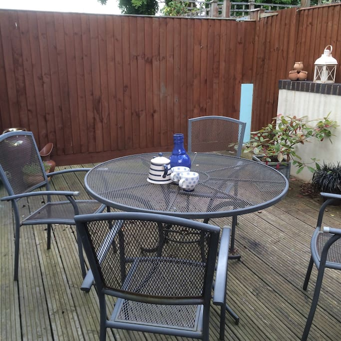 Have a peaceful breakfast on my private outdoor decking area