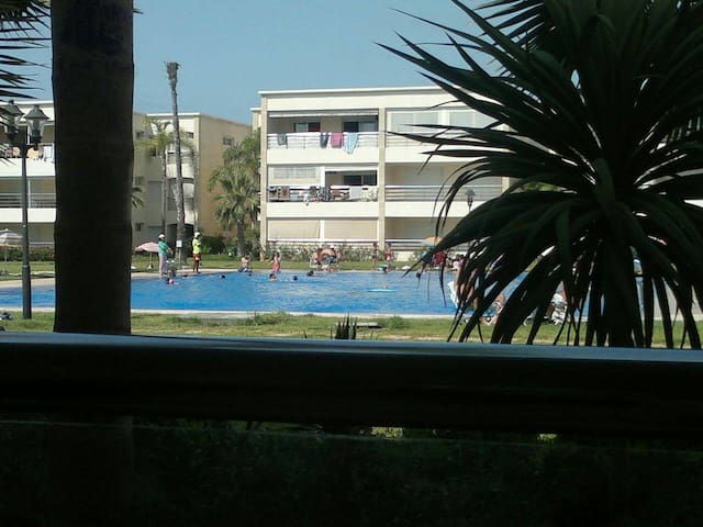 Ola Blanca Appartement ensoleillé pieds dans l'eau - Sidi Rahal - Ortak mülk
