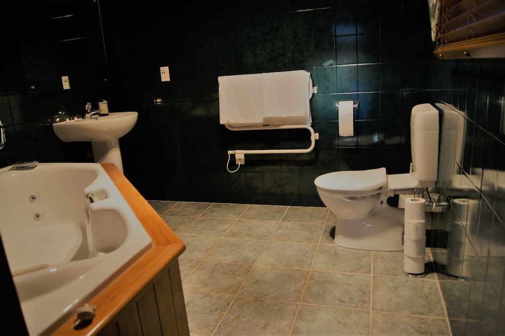 Large, private bathroom