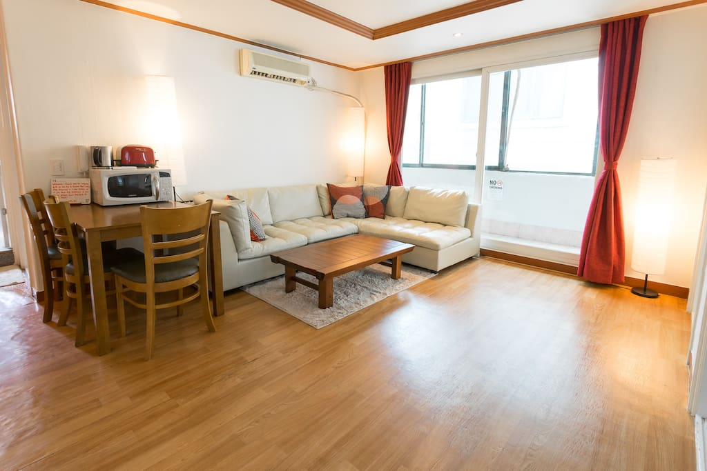 This 3-bedroom is super cozy with a bright livingroom, all private for your stay.