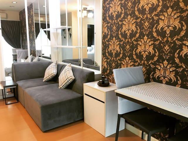 1 bedroom,Living room,Wifi ,15min to BKKairport.