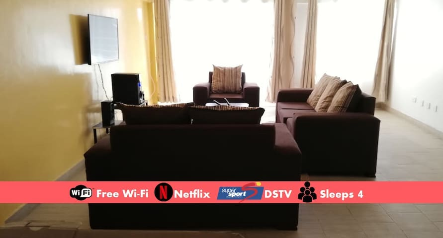 2BR King, Fast Wi-Fi, DSTV, In City Centre. #B2