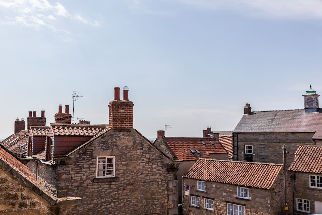 Rooftop views over Kirkbymoorside from the bedroom