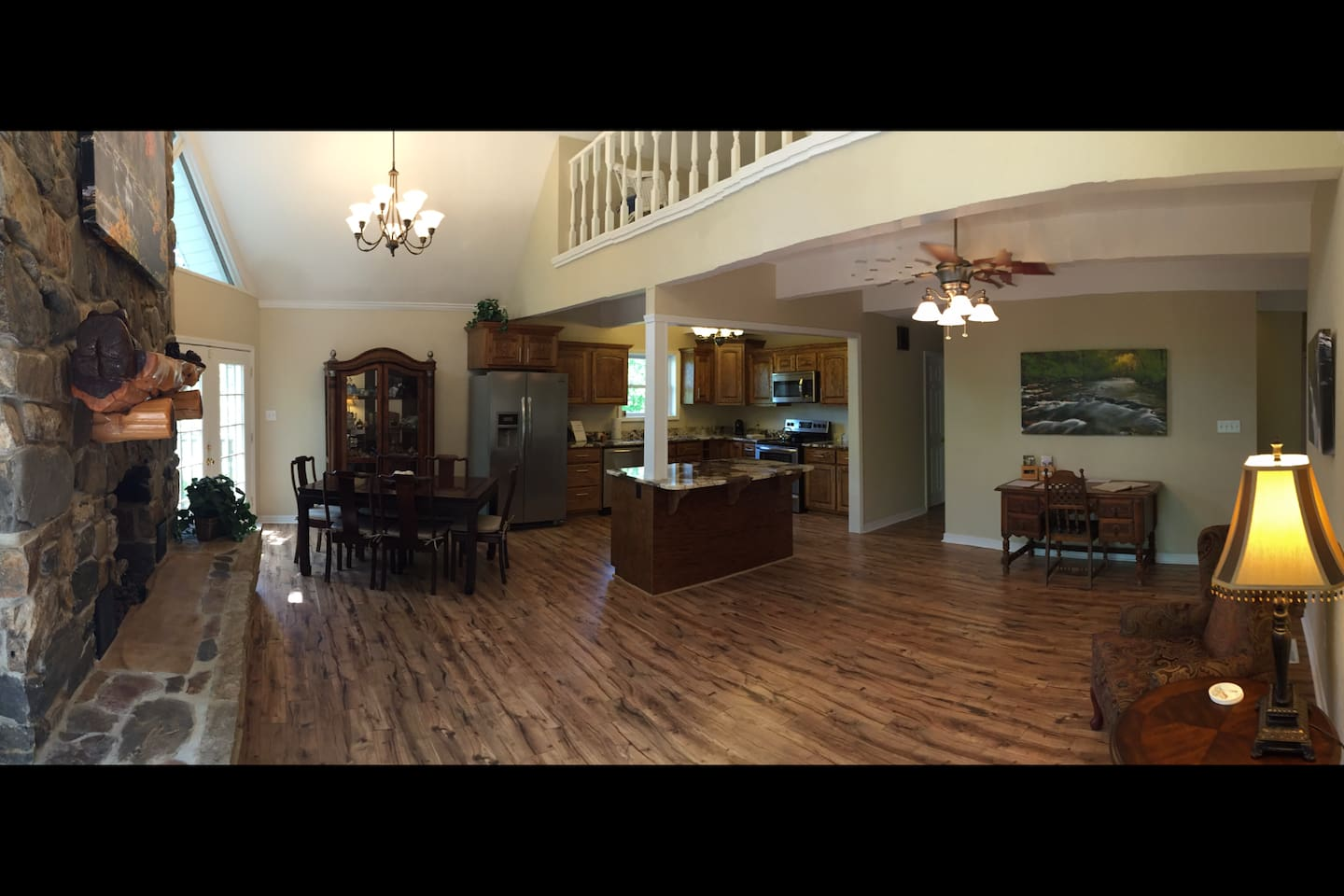 Main living room and full kitchen