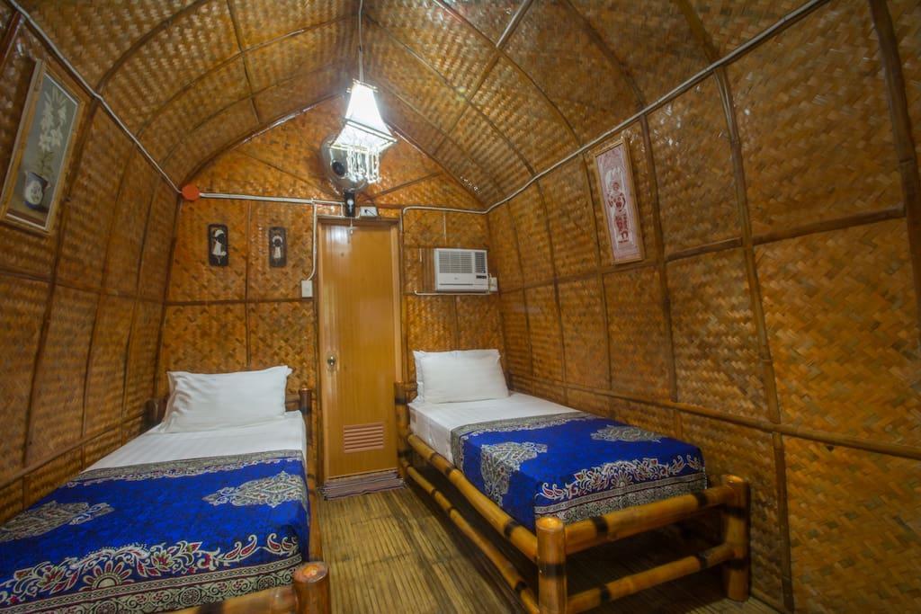 Balinese Twin Hut interior