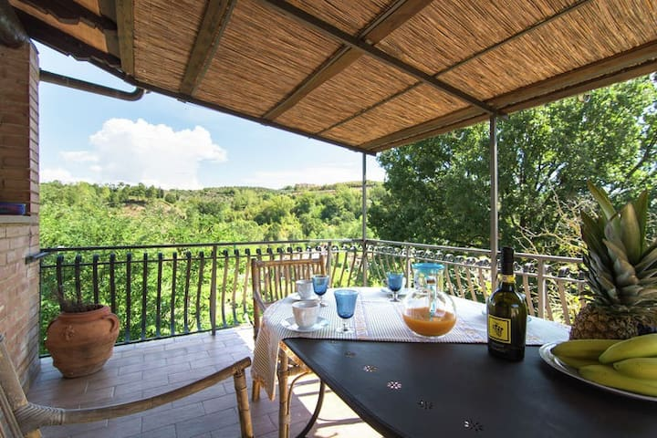 Lovely flat La Pergola between Florence and Siena - Alberi - Departamento