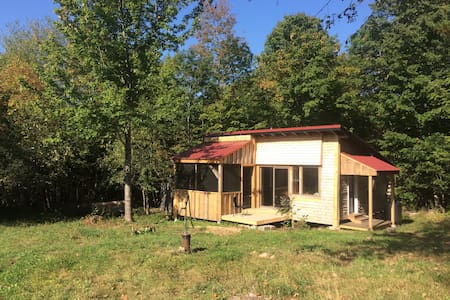 Cozy Off-Grid Cabin on Small Organic Farm