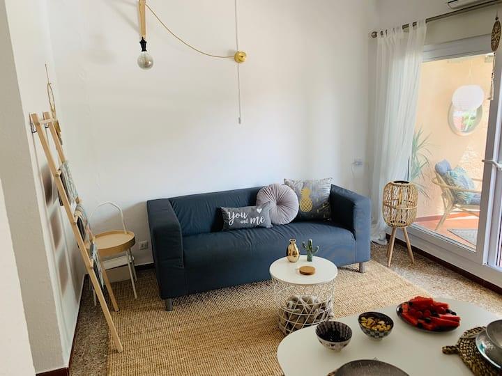 Montgotito appartement 200m van het strand+parking