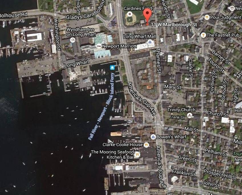 Located between Thames St and America's Cup Ave in Downtown Newport, you'll be in walking distance to everything!