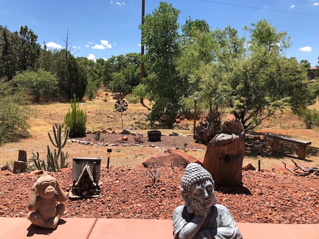View from the patio, from the living room, and a place to simply enjoy the quiet bliss of Sedona