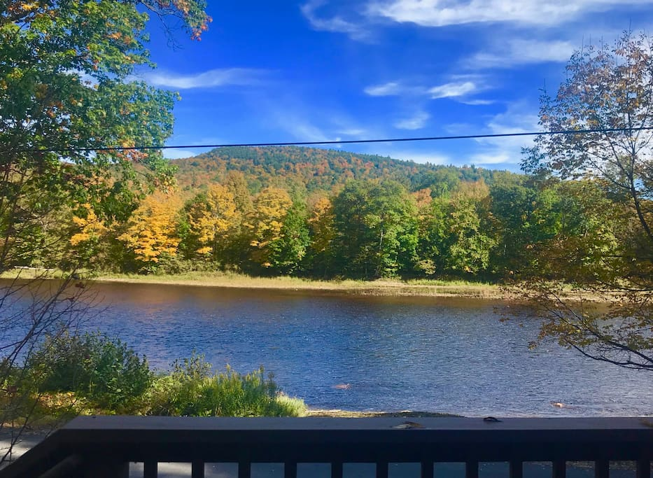 Autumn view from our deck!
