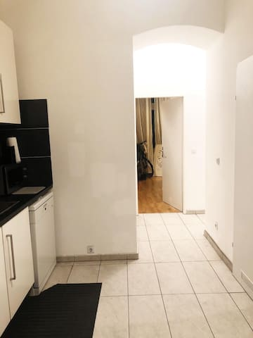 White apartment in heart of historical wien cit