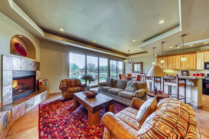 Luxurious, waterfront, dog-friendly getaway w/ shared pool & hot tub