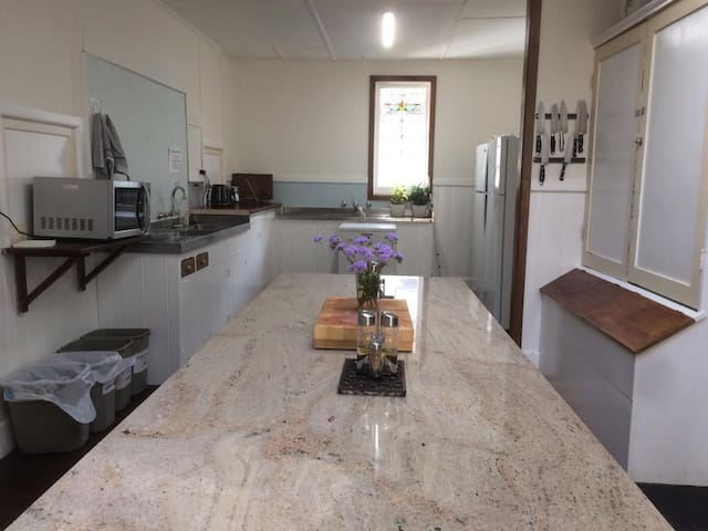 Main kitchen - open for guests to cook