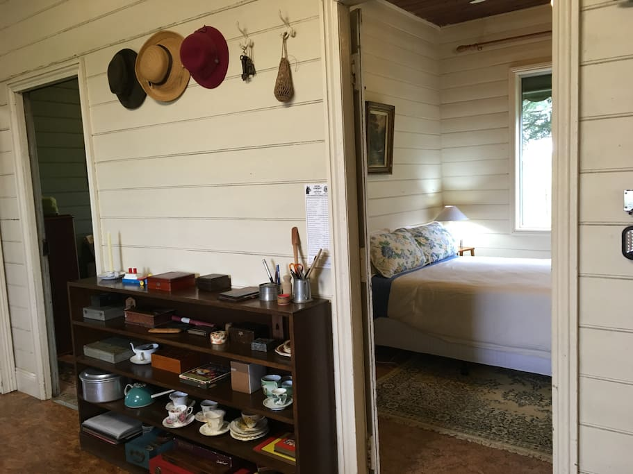 The Entrance to Myall Cottage, with a view into Bedroom One.
