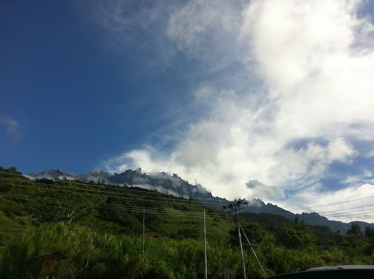 Mt. Kinabalu view, right in front of the house. Best view is before 7AM. Wake up early to watch the sunrise