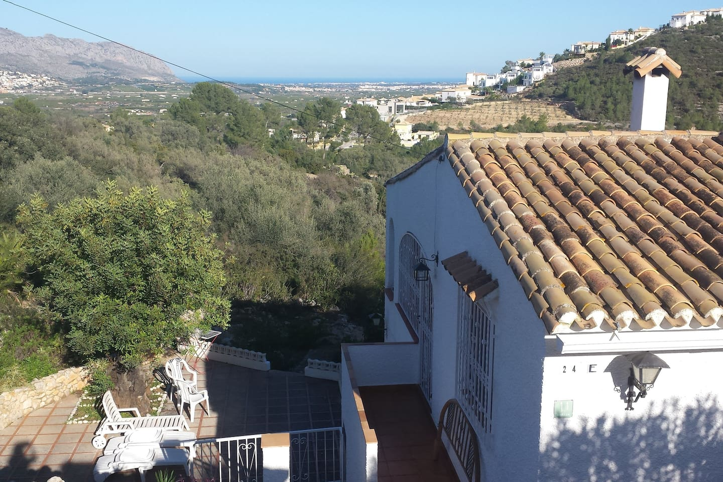 The house has many terraces and seaview