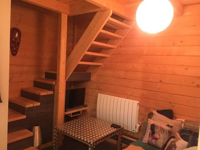 Duplex cosy dans surf House en bois à Messanges !