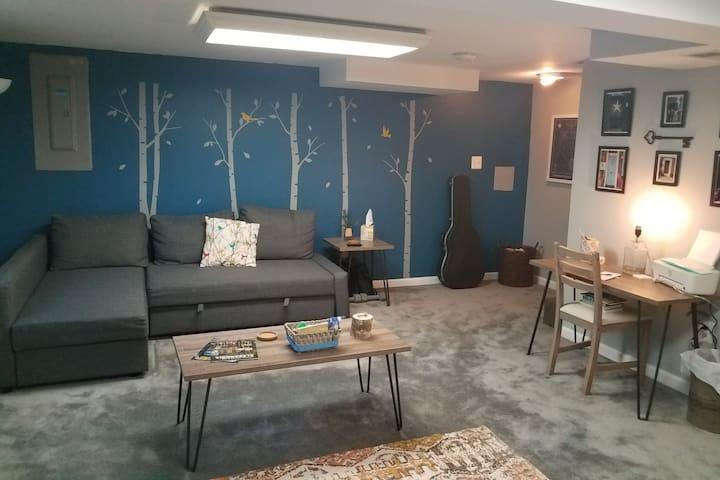 Studio 'Blue Nest' Basement w/ Private Entry