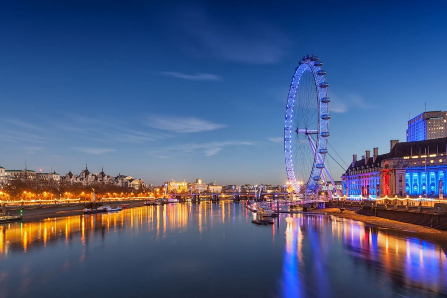 A short walk down the river and you will be at the London Eye. Take a ride and view London from above