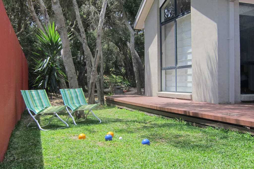 The lawn is great for a game of Bocce – Balls supplied