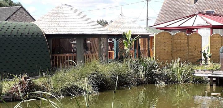 chambre d'hôte/piscine couverte chauffée/sauna/spa