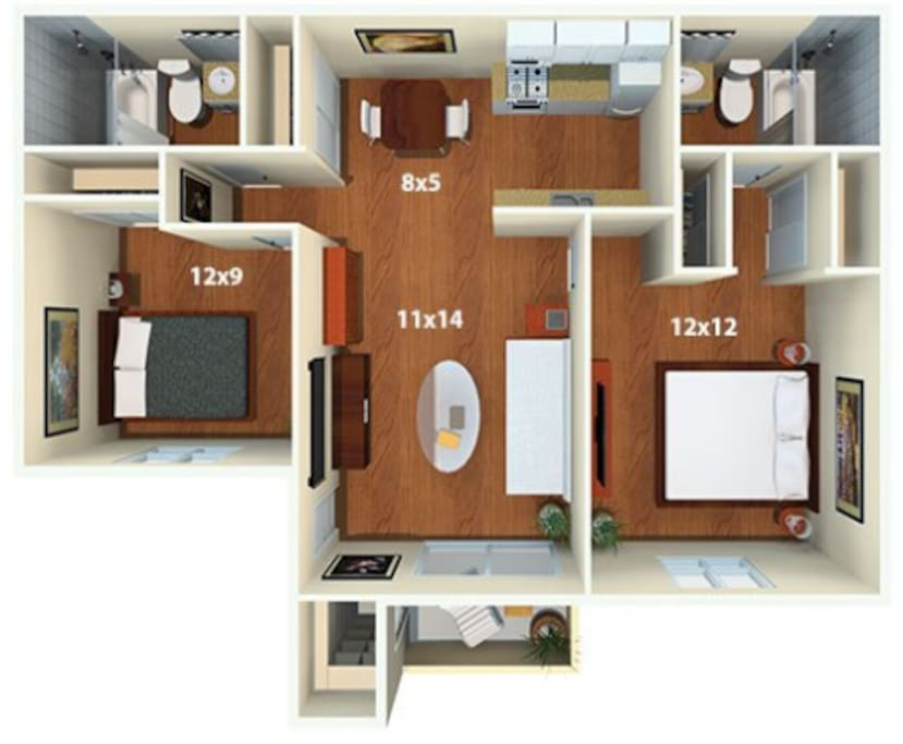 floor plan (it's larger than it looks)