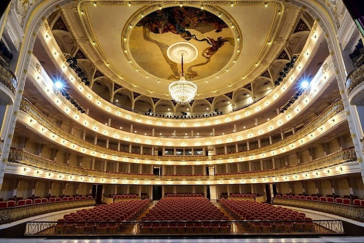 Gran Teatro de la Habana. Great Theater of Havana, built in 1838. It is 100 meters from the apartment.