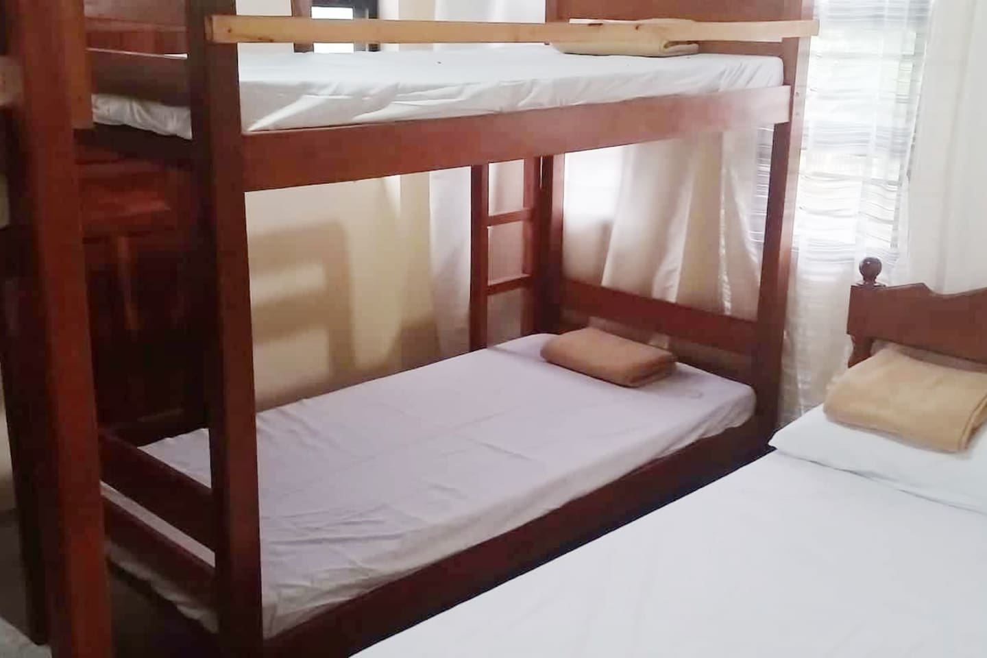 1 Double, 2 Bunk Bed with Private CR