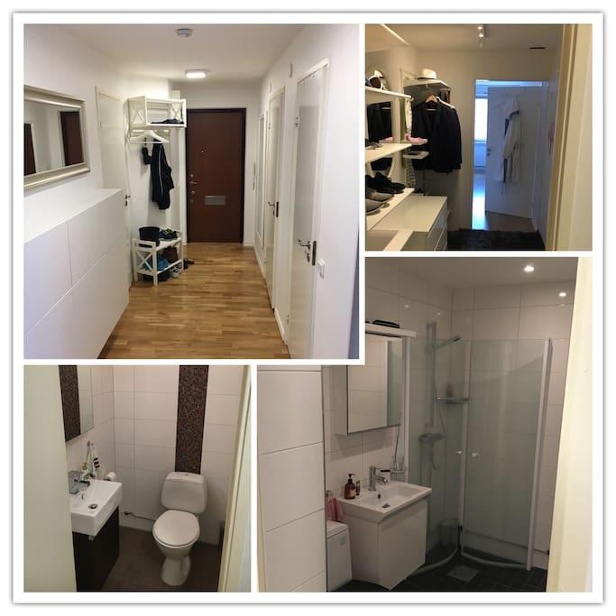 Entrance, walk-in-closet, toilet & bathroom