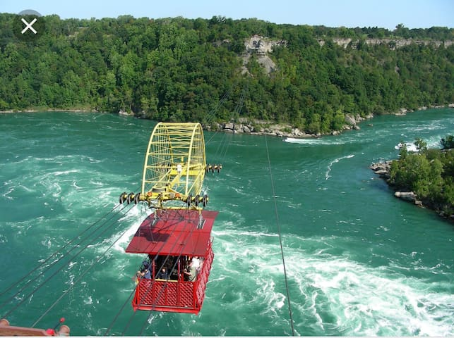 Spanish aerocar over the whirlpool  on the Niagara river just 20mins away