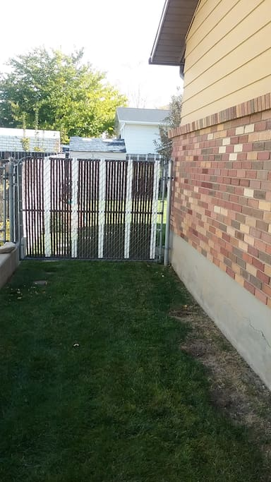 You enter the backyard through these gates.