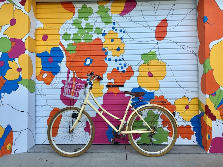 BLISS light sunny quiet studio bikes wifi washer
