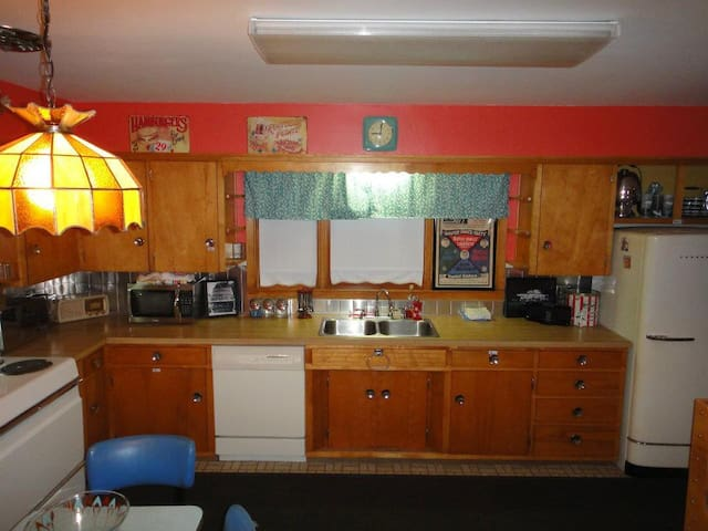 Our 50's diner inspired kitchen