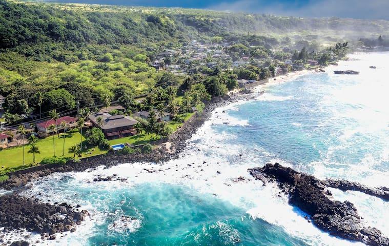 Spectacular  Waimea Oceanfront Home