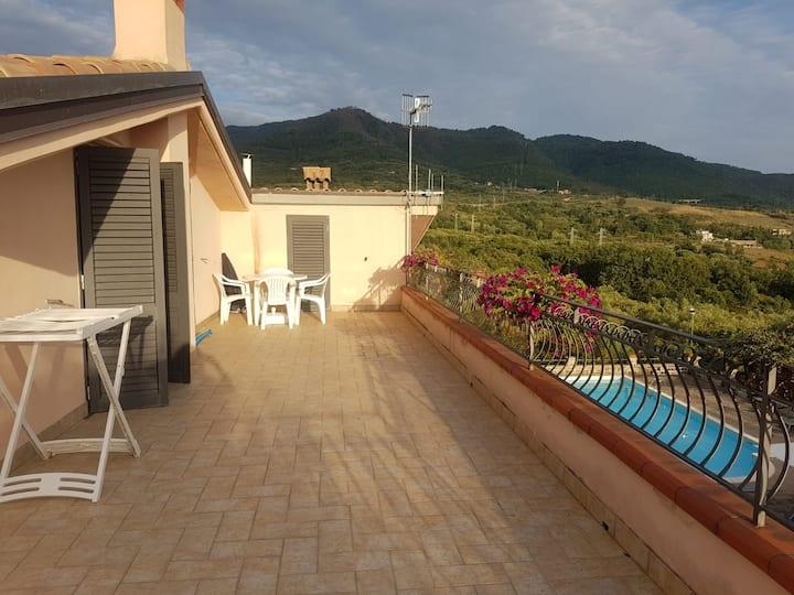 Villa con piscina nel Parco Nazionale del Cilento