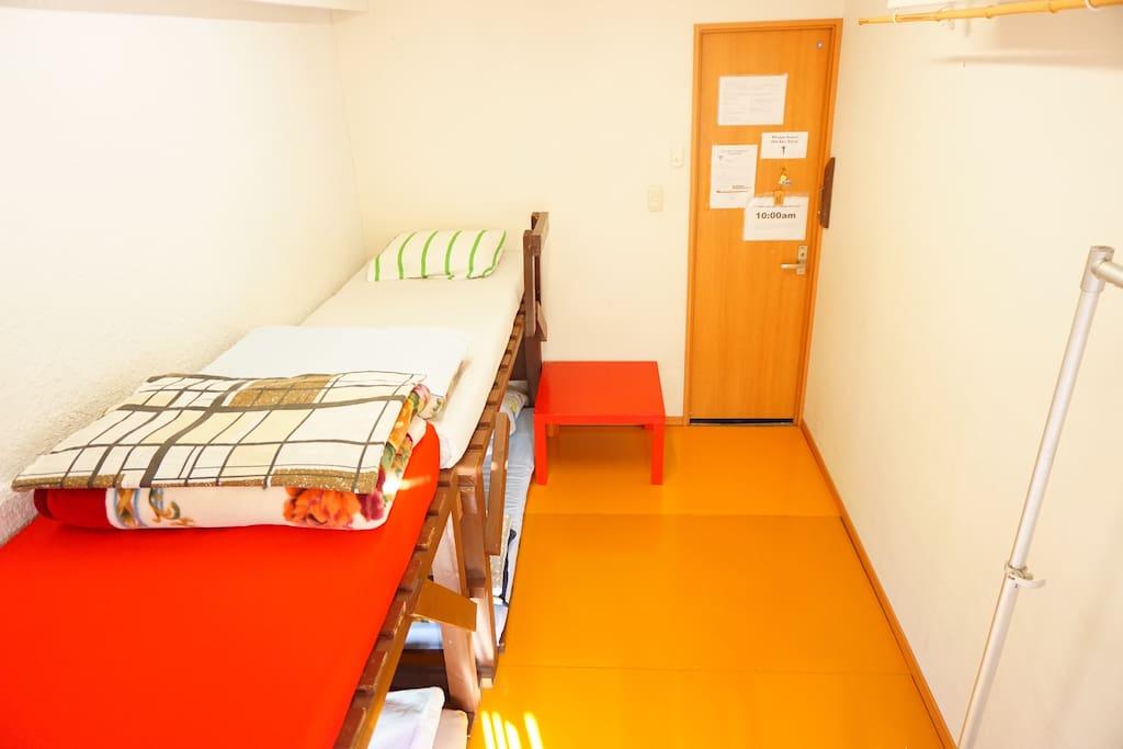 Hotel Room Multiple Beds In Tokyo