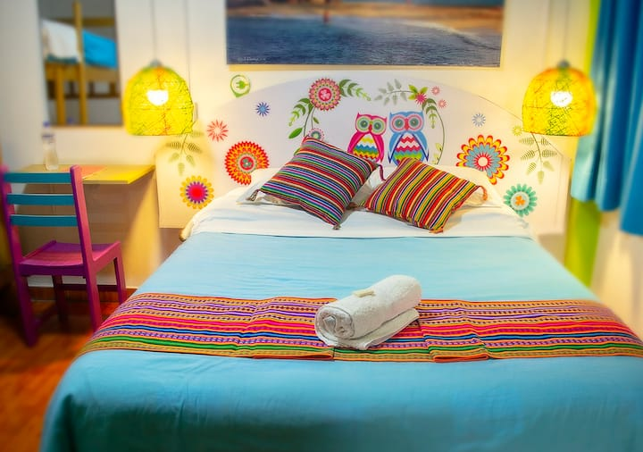 Private Double Room/bathroom - Lima Airport Hostel