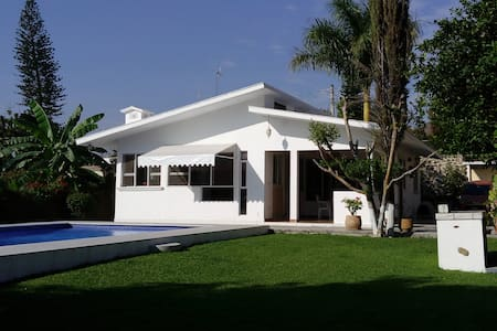 HOUSE ONLY WITH POOL GARDEN GRILL - Temixco - Haus