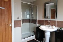 Bathroom with full shower